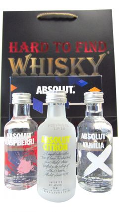 Vodka - Absolut 3 x Flavoured Miniatures Gift Set (Hard To Find Whisky Edition) Whisky