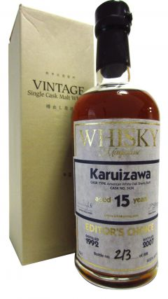 Karuizawa (silent) - Whisky Magazine Editors Choice Single Cask #3434 - 1992 15 year old Whisky