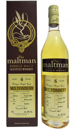 Miltonduff - The Maltman Single Cask #266 - 2008 6 year old Whisky