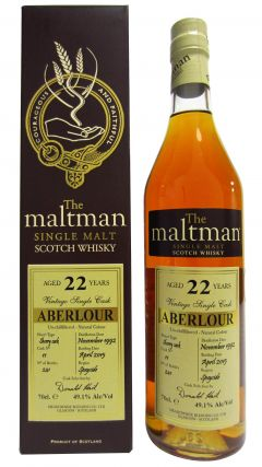 Aberlour - The Maltman Single Cask #11 - 1992 22 year old Whisky