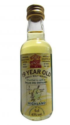 Dallas Dhu (silent) - Single Malt Miniature - 1978 19 year old Whisky