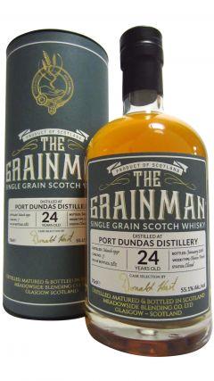 Port Dundas (silent) - The Grainman Single Cask #7 - 1991 24 year old Whisky