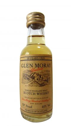 Glen Moray - Single Highland Malt Miniature 10 year old Whisky