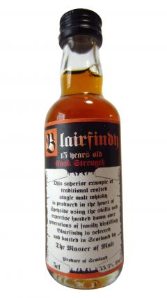 Speyside - Blairfindy Cask Strength Miniature 15 year old Whisky
