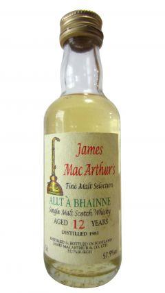 Allt-a-Bhainne - James Mac Arthur's Fine Malt Miniature - 1981 12 year old Whisky