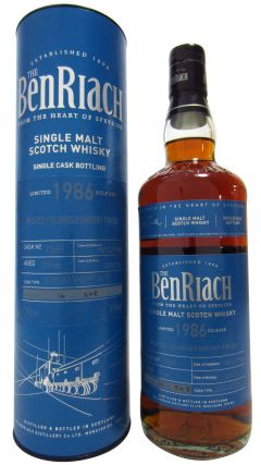 BenRiach - Peated Oloroso Sherry Single Cask #7569 - 1986 29 year old Whisky