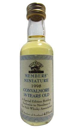 Convalmore (silent) - Members Miniature  16 year old Whisky