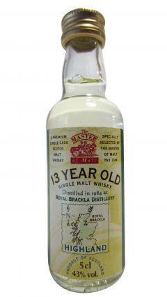 Royal Brackla - Single Malt Miniature 13 year old Whisky