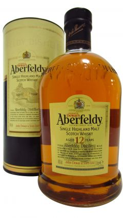 Aberfeldy - Highland Single Malt (1 Litre old bottling) 12 year old Whisky
