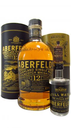 Aberfeldy - Highland Single Malt + 5cl Bottle of Uisge Source Water 12 year old Whisky