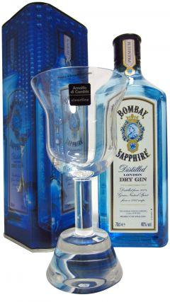 Bombay Sapphire - Full Size Bottle + Italian Crystal Goblet Gin