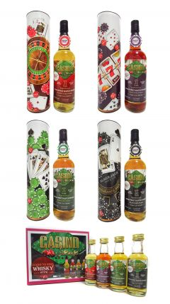 Tobermory - All 4 Casino Series Bottles & FREE 4 x 5cl Miniatures Pack - 1995 21 year old Whisky