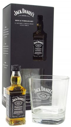 Jack Daniel's - Miniature & Branded Glass Tumbler Gift Set (Hard To Find Whisky Edition) Whiskey