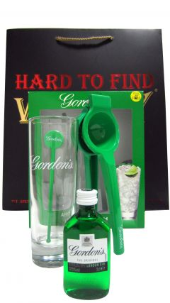 Gordons - Miniature & Glass Gift Set (Hard To Find Whisky Edition) Gin
