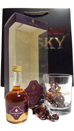 Cognac / Brandy - Courvoisier Miniaure, Tumler & Chocolates Gift Set (Hard To Find Whisky Edition) Whisky