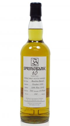 Springbank - Springbank Open Day 2010 - 1999 10 year old Whisky