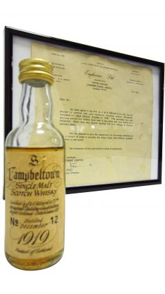 Springbank - Single Malt Scotch Miniature - 1919 50 year old Whisky
