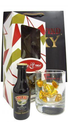 Baileys - Irish Cream Miniatue, Glass & Chocolates Gift Set (Hard To Find Whisky Edition) Liqueur