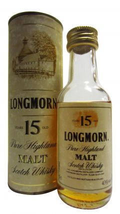 Longmorn - Pure Highland Malt Miniature 15 year old Whisky