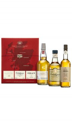 Various Distilleries - The Classic Malts Collection Gentle 3 x 20cl Bottles Whisky