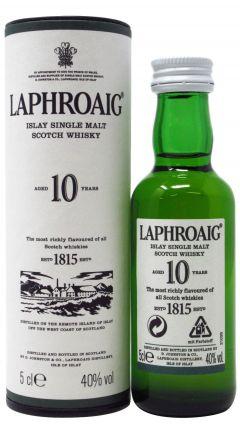 Laphroaig - Islay Single Malt Miniature 10 year old Whisky