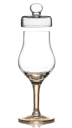 Amber Whisky Tasting Glass With Lid (Gold Version)