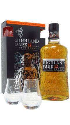 Highland Park - Single Malt Scotch & 2 Glasses Gift Set 12 year old Whisky