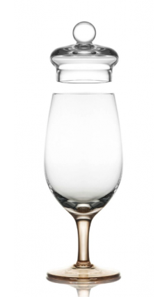 Amber Distillery Tasting Glass With Lid (Gold Version)