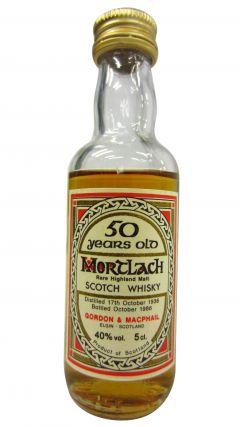 Mortlach - Rare Highland Malt Miniature - 1936 50 year old Whisky