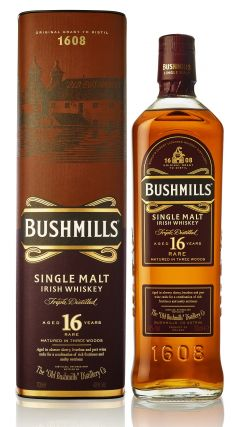 Bushmills - Single Malt Irish 16 year old Whiskey