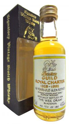 Glenrothes - Preston Guild Royal Charter Miniature 16 year old Whisky