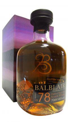 Balblair - Highland Single Malt - 1978 30 year old Whisky