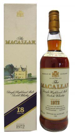 Macallan - Single Highland Malt - 1972 18 year old Whisky