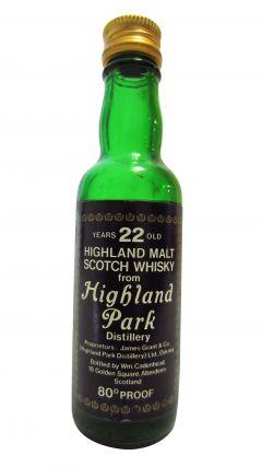 Highland Park - Highland Malt Scotch Miniature 22 year old Whisky