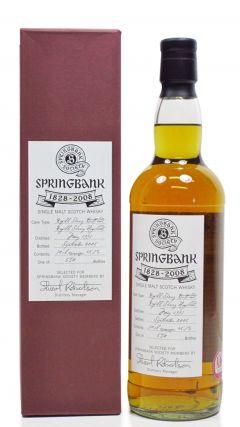 Springbank - Stuart Robertson Society Bottling - 1997 11 year old Whisky