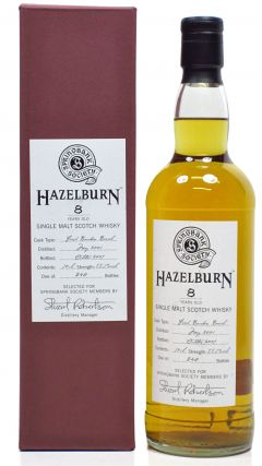 Hazelburn - Stuart Robertson Society Bottling - 2001 8 year old Whisky