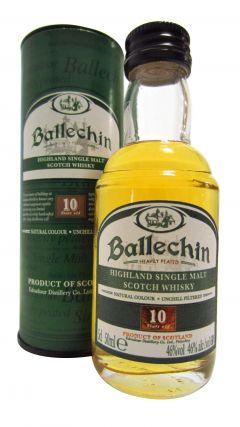 Ballechin - Highland Single Malt Scotch Miniature 10 year old Whisky