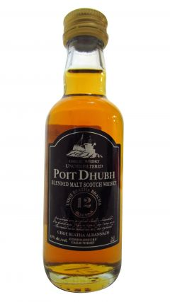 Poit Dhubh - Scotch Malt Miniature 12 year old Whisky
