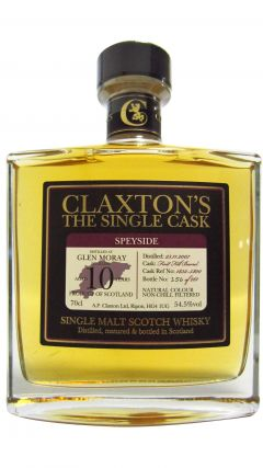 Glen Moray - Claxton's Single Cask #1832-5800 - 2007 10 year old Whisky