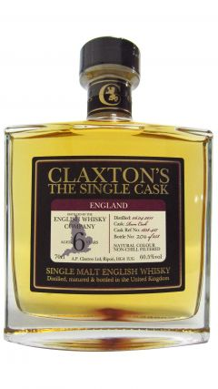 The English Whisky Co. - Claxton's Single Cask #1838-457 - 2011 6 year old Whisky