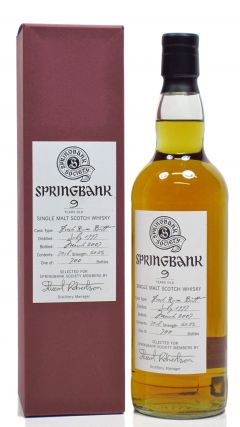 Springbank - Stuart Robertson Society Bottling - 1997 9 year old Whisky