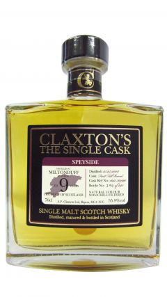 Miltonduff - Claxton's Single Cask - 2008 9 year old Whisky