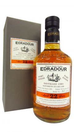 Edradour - Port Finish Single Cask #05/0714 - 1983 22 year old Whisky