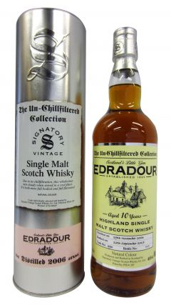 Edradour - Signatory Vintage Single Cask #390 - 2006 10 year old Whisky