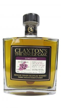 Dumbarton (silent) - Claxton's Single Cask Grain - 1986 32 year old Whisky