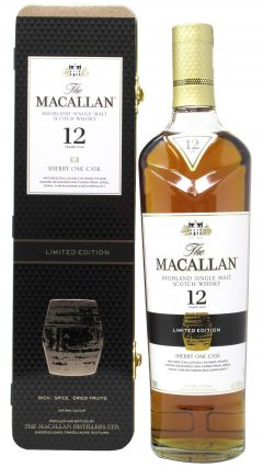 Macallan - Sherry Oak Limited Edition Gift Tin 12 year old Whisky