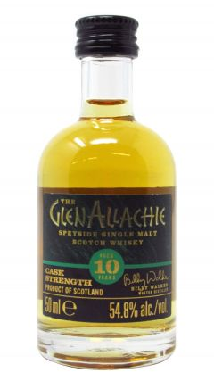 Glenallachie - Cask Strength Single Malt Scotch Miniature 10 year old Whisky