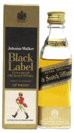 Johnnie Walker - Black Label Miniature (old bottling) Whisky