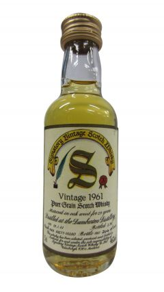 Dumbarton (silent) - Signatory Vintage Miniature - 1961 29 year old Whisky