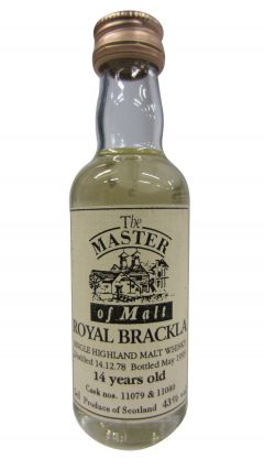 Royal Brackla - The Master of Malt Scotch Miniature - 1978 14 year old Whisky